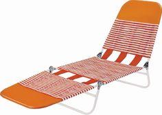 Worldwide Sourcing S65002-O Folding Lounge 26.675 in H x 22-3/4 in W x 15-3/8 in D PVC Orange