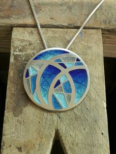 2013. Charlotte Smith. Silver and enamel necklace.