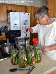 Canned Pickled Spicy Asparagus