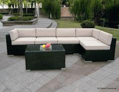 Ohana Wicker Furniture - 6 Piece Deep Seating Couch Set // Ohana - Outdoor Patio Furniture
