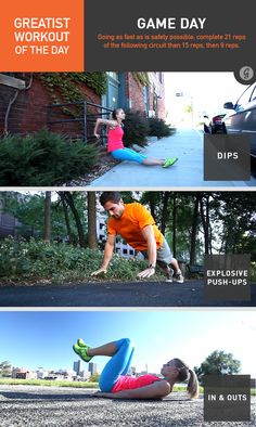 Greatist Workout of the Day: Friday, December 12th: 21/15/9 dips, explosive push-ups, in-and-outs