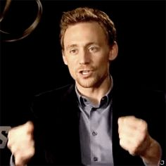 Click for a Tom Hiddleston GIF set. Just because he is cute. There's a Loki face palm in the last gif  i see :)