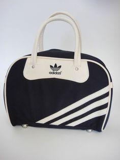 Vintage 90s Navy Blue Adidas Sportswear Bag by totalrecallvintage b2cb49ae61bb7