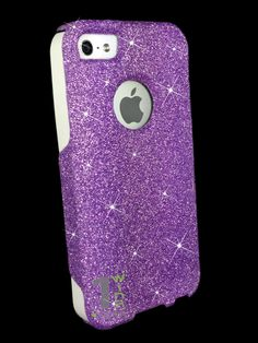 iphone 5 otterbox cases | ... Series® case Orchid Purple Glitter White Silicone Case for iPhone 5