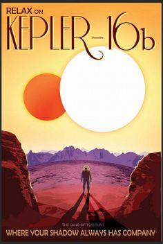 Haluaisitko ihailla jäistä merimaisemaa Saturnuksen kuun Titanin pinnalla? Tai rentoutua eksoplaneetta Kepler-16b:n upeiden näkymien äärellä?