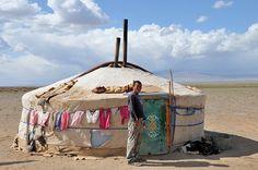 The Gobi Desert, Nomad Family by FO Travel, via Flickr