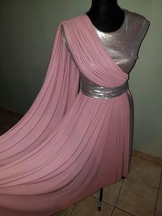 Vestido de danza color rosa creado por mi.