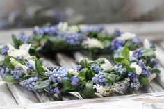 Spring Blooms, Wedding Bouquets, Floral Arrangements, Color Themes, Blue, Wedding Brooch Bouquets, Bridal Bouquets, Flower Arrangement, Wedding Bouquet