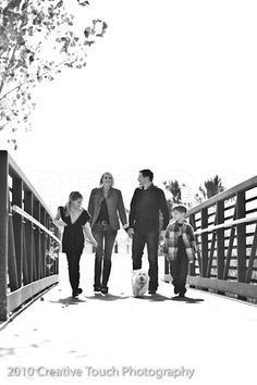 fun family photo on bridge- I think daisy would block half the people in our picture ;)