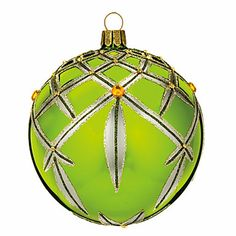 Waterford Heirloom Chartreuse Lismore Ball Ornament