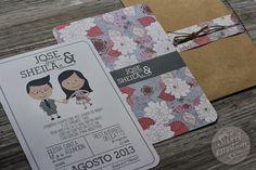 Sweet emotion: Invitaciones de boda de Sheila & Jose