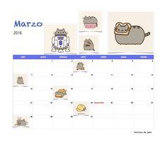 Gratis calendario Sonrisas de gato Marzo 2016