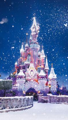 【人気50位】雪のシンデレラ城✨ | iPhone6s 6Plus壁紙/待受画像ギャラリー