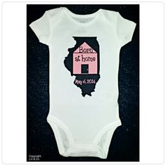 Baby Clothes Personalized Baby Gift Illini by LivAndCompanyShop, $16.00
