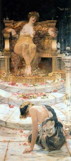 L'art magique: Edward Matthew Hale : Psyché au trône de Vénus, 18...