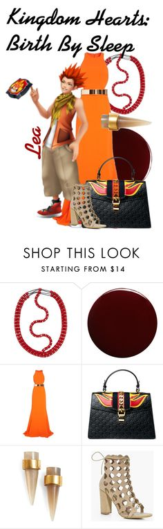 """""""Lea from Kingdom Hearts: Birth By Sleep (Genderbend)"""" by imanirine ❤ liked on Polyvore featuring Valentino, Lauren B. Beauty, STELLA McCARTNEY, Gucci, SOKO and Boohoo"""