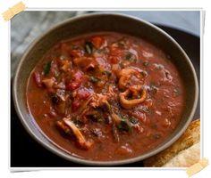 Dukan soup of shrimp, squid and mussels - Ricetta Dukan della zuppa di gamberi, calamari e cozze (crociera) - http://www.lamiadietadukan.com/ricetta-dukan-zuppa-pesce/ #dukan #dietadukan #ricette