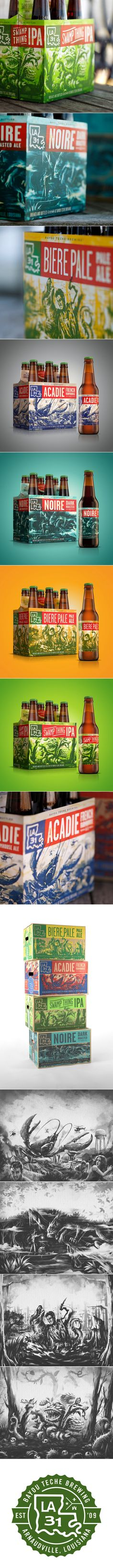 A Beer Straight From the Bayou — The Dieline - Branding & Packaging Design