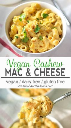 Creamy Vegan Cashew Mac and Cheese | You won't miss the dairy in this Vegan Macaroni and Cheese! vegan macaroni and cheese recipe, vegan recipe gluten-free, dairy-free, vegan recipe, vegetarian #veganpasta #veaganmacandcheese via @VNutritionist