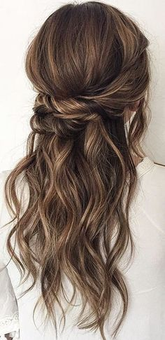 hair vines hair styles for curly hair hair bridesmaid hair styles for the bride hair with flowers hair jewelry hair curls hair short updos Wedding Hair Down, Wedding Hairstyles For Long Hair, Wedding Hair And Makeup, Pretty Hairstyles, Hair Makeup, Hairstyle Ideas, Bohemian Hairstyles, Bridesmaids Hairstyles, Bohemian Braids