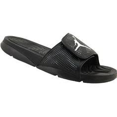 21f63e5cf95fec Air Jordan Hydro 5 Slide Sandals - Mens Black White Cool Grey Mens Slide  Sandals