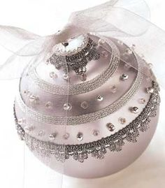 Beaded Beauty Sparkling beads make any tree decoration stand out from the rest.