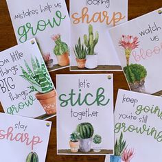 classroom decor This beautiful set of inspirational posters is perfect for building resilience and a growth mindset in your classroom. Made to match our other CACTUS Classroom Decor, t New Classroom, Classroom Design, Classroom Themes, Classroom Organization, Growth Mindset Classroom, Growth Mindset Activities, Growth Mindset Posters, Cactus Craft, Cactus Decor
