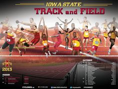 Other.  2013 Iowa State Track and Field poster!