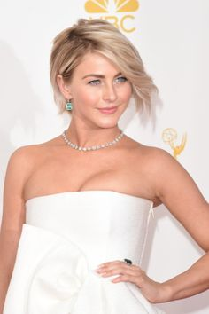 Julianne Hough at the 2014 Emmy Awards. Hair by Riawna Capri for KMS. Styled by Anita Patrickson.