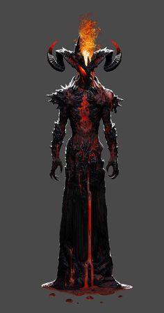 Demon  #demon #digitalart #conceptart #hell #abyss