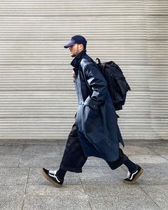 Fashion Games, Fashion Outfits, Mens Fashion, Fasion, Street Chic, Street Style, Navy Coat, Street Outfit, Daily Look