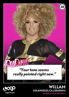 RuPaul's Drag Race TRADING CARD THURSDAY #48: Willam
