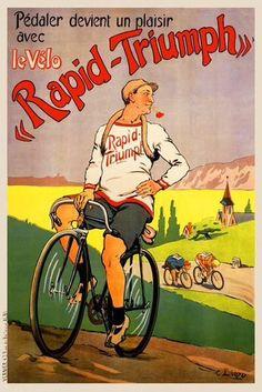 Cycles Rapid-Triumph ~ C. Liozu   #Bicycles #RapidTriumph