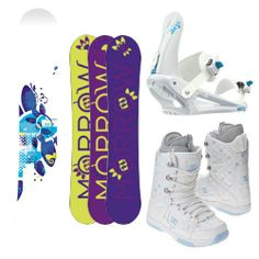 Morrow Sky Women's Complete Snowboard Package with matching Morrow Sky Bindings and DC Phase Women's Boots Board Size 153