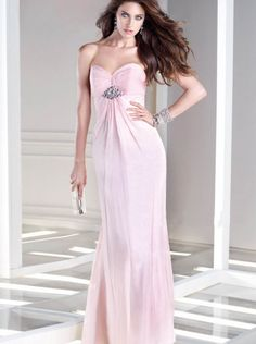 A-line Pink Chiffon Formal Dress/Prom Dress 2015 spring Ace B Dazzle 35709