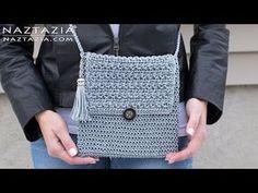 How to Crochet My Mini Bag - DIY Tutorial - Easy Handbag Purse Clutch Bolsa Borsa - YouTube