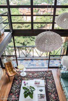A nice floor plan for a cottage/cabin Home Interior Design, Interior Architecture, Interior And Exterior, Interior Decorating, Lofts, Casa Loft, Mini Loft, Loft Studio, Decoration