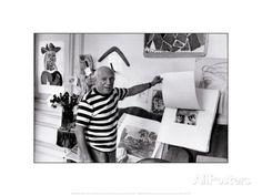Pablo Picasso, Villa Californie, France Posters by Rene Burri at AllPosters.com