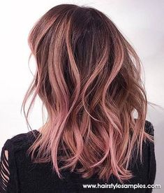 6 Great Balayage Short Hair Looks – Stylish Hairstyles Ombre Hair Color, Brown Hair Colors, Purple Hair, Brown Hair With Pink Highlights, Brown And Pink Hair, Rose Gold Hair Brunette, Cabelo Rose Gold, Short Hairstyles For Women, Looks Style