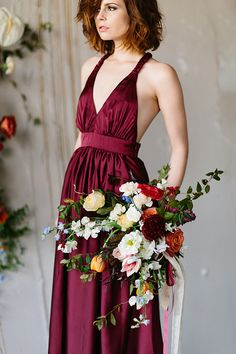 Wine bridesmaids dress | See more at www.onefabday.com