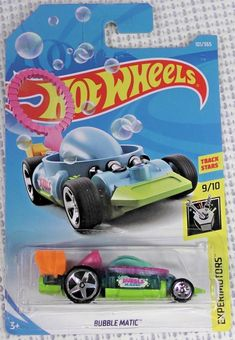 2018 Hot Wheels F Case - Bubble Matic - New Model - Bubble wand Brand Stickers, Bubble Wands, Matchbox Cars, Hot Wheels Cars, New Model, Toddler Toys, Black Panther, Airplanes, Diecast
