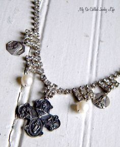 .  #jewelry #necklace #repurposed #vintage