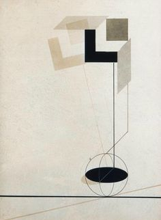 El Lissitzky, Untitled from First Kestner Portfolio Proun, print No. 4, 1923