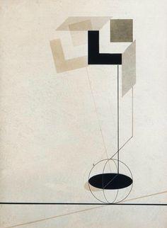 El Lissitzky, Untitled from First Kestner Portfolio Proun, print No. 4, 1923