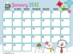 Super cute calendar pages. Free printables!