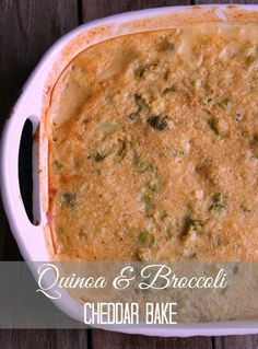 Quinoa and Broccoli Cheddar Casserole Bake 251 calories and 7 weight watchers points plus Skinny Recipes, Ww Recipes, Cooking Recipes, Healthy Recipes, Potato Recipes, Healthy Meal Prep, Healthy Eating, Healthy Food, Broccoli Cheddar Casserole