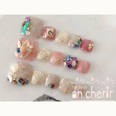 Pretty Toe Nails, Cute Toe Nails, Toe Nail Art, Love Nails, My Nails, Colorful Nail Designs, Toe Nail Designs, Cute Pedicures, Gel Toes