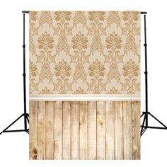 5x7FT Brown Wood Floor Indoor Photography Background Backdrop Studio Prop