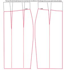 How to draft your own high-waist skirt pattern.