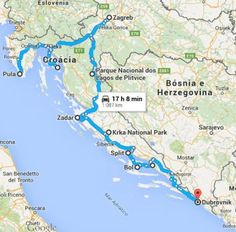Italy And Croatia Map Map Of Europe Map Of Croatia Travel